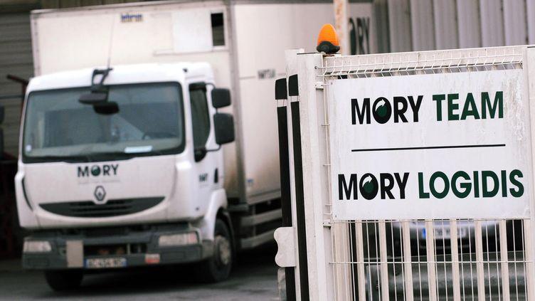 Un site du transporteur de colis Mory Ducros, à La Riche,près de Tours (Indre-et-Loire), le 22 novembre 2013. (MAXPPP)