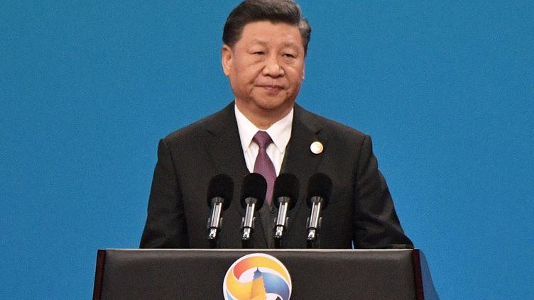 Xi Jinping, le président chinois, le 26 avril 2019 à Pékin. (ALEKSEY NIKOLSKYI / SPUTNIK / AFP)