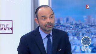 Le Premier ministre Edouard Philippe, sur France 2, le 3 janvier 2018. (FRANCE 2)