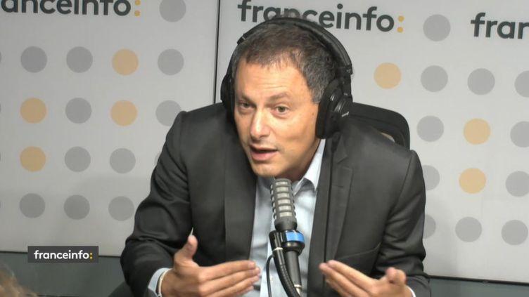 Marc-Olivier Fogiel, directeur de l'information de BFMTV. (CAPTURE D'ECRAN FRANCEINFO)
