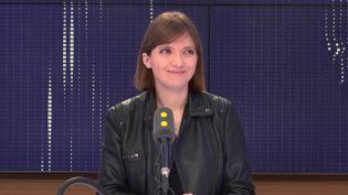 Aurore Bergé,députée LREM des Yvelines et porte-parole du groupe LREM à l'Assemblée nationale, le 17 février 2018. (RADIO FRANCE / FRANCEINFO)