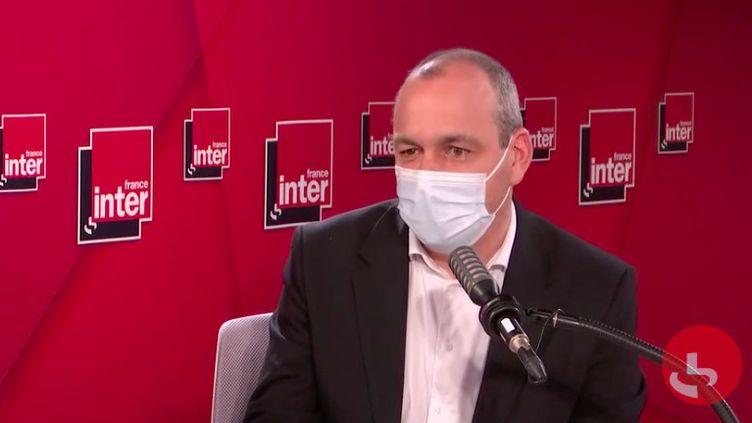 Laurent Berger, secrétaire général de la CFDT,sur France Inter mercredi 17 mars 2021. (FRANCEINTER / RADIOFRANCE)