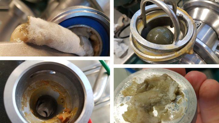 Photos prises dans la cuisine centrale de Thiais, après nettoyage habituel, le 20 décembre 2018. (CELLULE INVESTIGATION DE RADIOFRANCE)