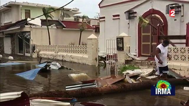 Ouragan Irma : scènes de dévastation sur l'île de Saint-Martin