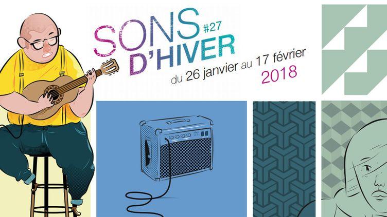 Sons d'Hiver : l'affiche 2018 (détail)  (Sons d'Hiver)
