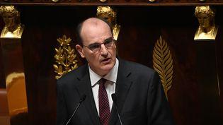 Le Premier ministre Jean Castex lors de son discours de politique générale, le mercredi 15 juillet 2020 à l'Assemblée nationale. (MARTIN BUREAU / AFP)