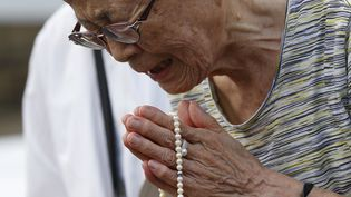 Les commémorations des 70 ans du bombardement de Nagasaki (Japon), samedi 8 août 2015. (  REUTERS)