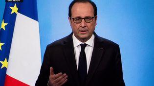 François Hollande annonce son choix de ne pas se présenter à la présidentielle de 2017, le 1er décembre 2016, à l'Elysée, à Paris. (Constant Formé-Bècherat / Hans Lucas / AFP)
