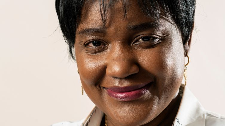 Debora Kayembe, 45 ans, avocate des droits de l'Homme née en République démocratique du Congo,futurerectrice de l'université d'Edimbourg (Ecosse), le 11 février 2021. (ANDY BUCHANAN/AFP)