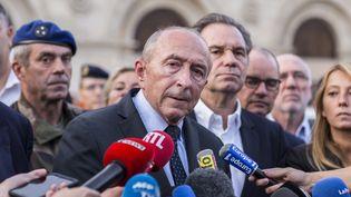 Le ministre de l'Intérieur Gérard Collomb, lors d'une conférence de presse, à Marseille (Bouches-du-Rhône), le 1er octobre 2017. (FABIEN COURTITARAT / HANS LUCAS / AFP)