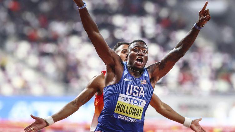 L'Américain Grant Holloway s'est approché à un centième du record du monde du 110m haies à un mois des Jeux olympiques de Tokyo. (SERHAT CAGDAS / ANADOLU AGENCY)