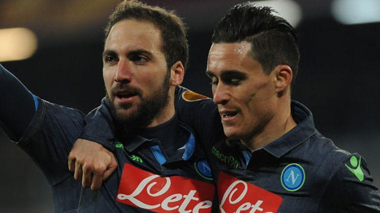 Gonzalo Higuain et José Callejon, les deux joueurs de Naples