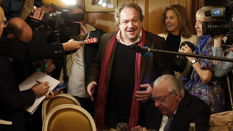"""Mathias Enard, lauréat du Goncourt 2015 pour """"Boussole"""" (Actes Sud)  (THOMAS SAMSON / AFP)"""