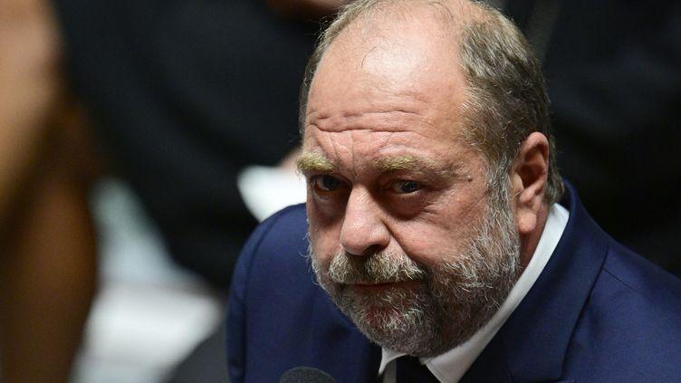 Le ministre de la Justice Eric Dupond-Moretti, à l'Assemblée nationale à Paris le 7 mai 2021. (MARTIN BUREAU / AFP)