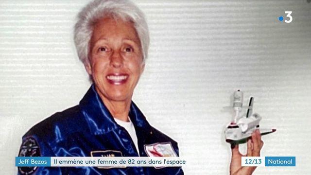 Jeff Bezos : le milliardaire emmène Wally Funk, aviatrice de 82 ans, dans l'espace