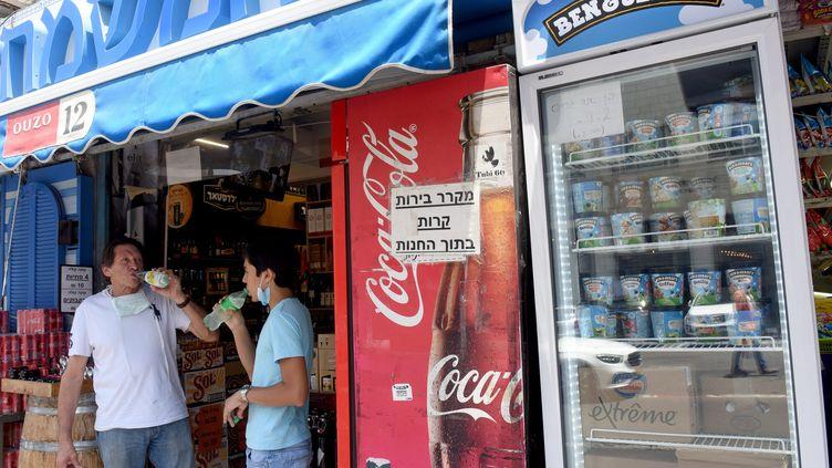 Des glaces Ben & Jerry's en vente dans une boutique de Jérusalem. (DEBBIE HILL / MAXPPP)