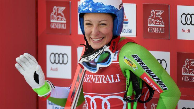 Ilka Stuhec, heureuse après sa victoire