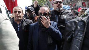 Philippe Martinez participe à la manifestation du 1er mai 2019 à Paris. (ZAKARIA ABDELKAFI / AFP)