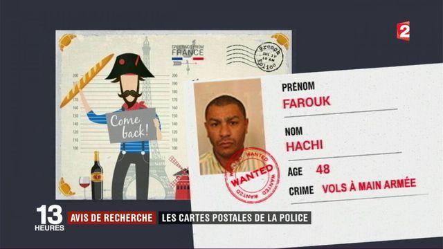 Avis de recherche : les cartes postales de la police
