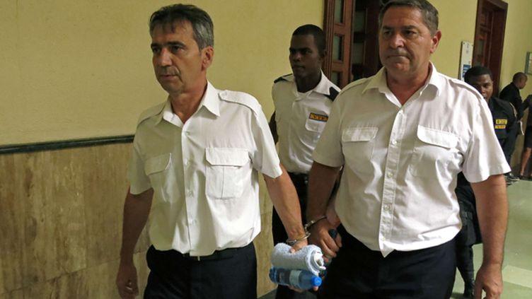 (Pascal Fauret et Bruno Odos avaient été condamnés en août à 20 ans de prison pour un trafic de drogue en République dominicaine dans lequel ils ont touours nié leur implication © Ezequiel Abiu Lopez/AP/SIPA)