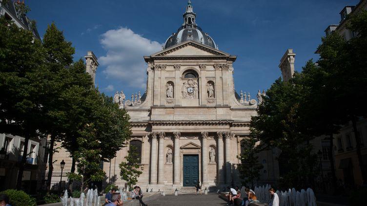 L'université de la Sorbonne, à Paris, en avril 2017. (GILLES TARGAT / AFP)