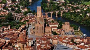 """Albi, la """"cité rouge"""" avec sa cathédrale Sainte-Cécile  ( PHOTOPQR/LA DEPECHE DU MIDI)"""