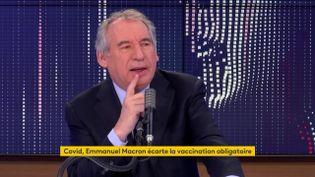 François Bayrou, le 26 novembre 2020, sur franceinfo. (FRANCEINFO / RADIO FRANCE)