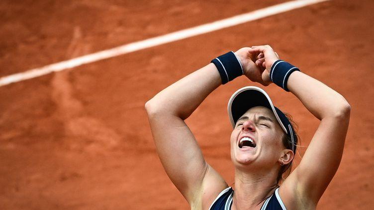 Nadia Podoroska, qualifiée surprise pour les demi-finales (ANNE-CHRISTINE POUJOULAT / AFP)
