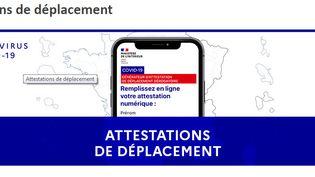 Les attestations de déplacement pour le second confinement ont été mises en ligne, le 29 octobre 2020. (WWW.INTERIEUR.GOUV.FR)
