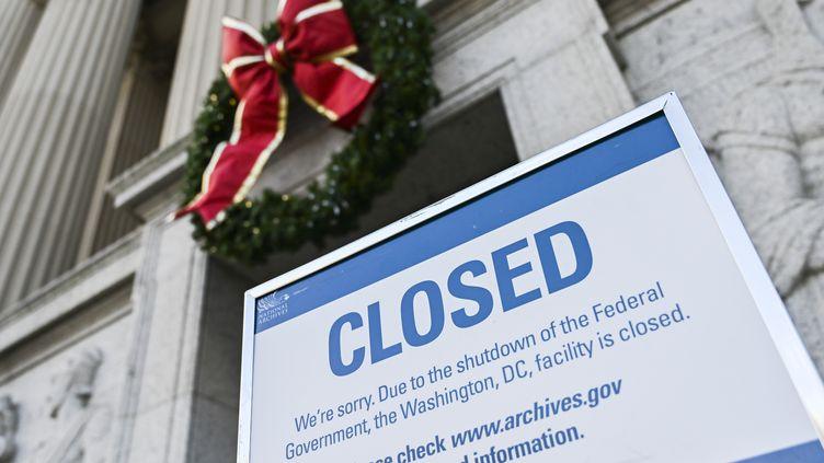 """Les administrations fédérales américaines sont fermées depuis le 22 décembre, en raison du """"shutdown"""". (ANDREW CABALLERO-REYNOLDS / AFP)"""
