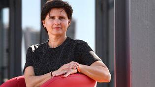 La ministre déléguée chargée des Sports,Roxana Maracineanu, à son ministère, le 11 septembre 2018. (ANNE-CHRISTINE POUJOULAT / AFP)