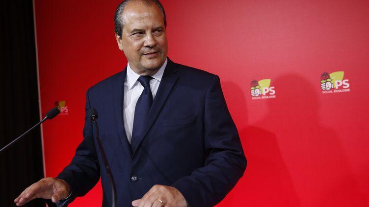 Jean-Christophe Cambédalis s'exprime le soir du premier tour des élections législatives, le 11 juin 2017. (GEOFFROY VAN DER HASSELT / AFP)