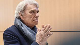 L'ex-homme d'affaires Bernard Tapie lors de son premier procès pour l'arbitrage du Crédit Lyonnais, le 4 avril 2019 au tribunal correctionnel de Paris. (BERTRAND GUAY / AFP)