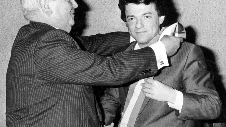Jean-Louis Borloo, élu maire de Valenciennes, le 24 mars 1989. (MAXPPP)