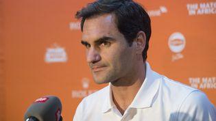 Roger Federer a décidé de hausser le ton en vue des Jeux Olympiques de Tokyo. (RODGER BOSCH / AFP)