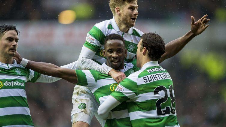 Moussa Dembélé a déjà inscrit 5 buts dans le derby de Glasgow dans sa carrière. (CRAIG WATSON/AP/SIPA / AP)
