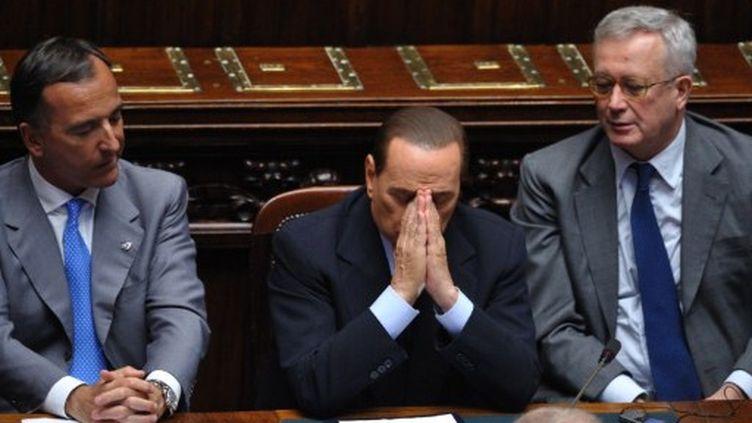 Berlusconi lors d'une session parlementaire em mars 2011 (Xinhua Motimex)