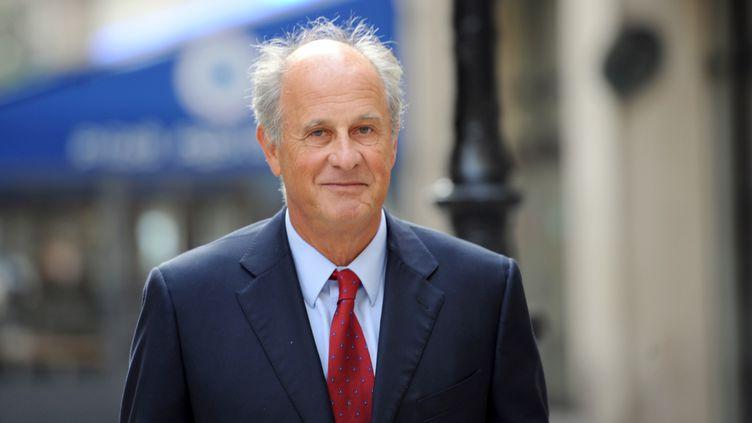 L'ex-gestionnaire de fortune de Liliane Bettencourt, Patrice de Maistre, le 30 septembre 2010 à Paris. (LIONEL BONAVENTURE / AFP)