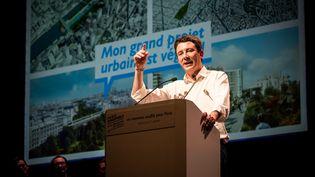 Benjamin Griveaux le 27 janvier en meeting à Bobino, pour les élections municipales à Paris. (KARINE PIERRE / HANS LUCAS)