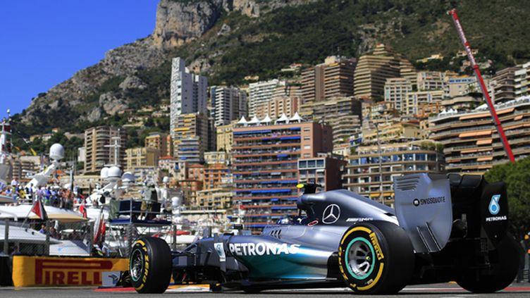 Nico Rosberg (Mercedes) dompte les qualifications à Monaco (ALEXANDER KLEIN / AFP)