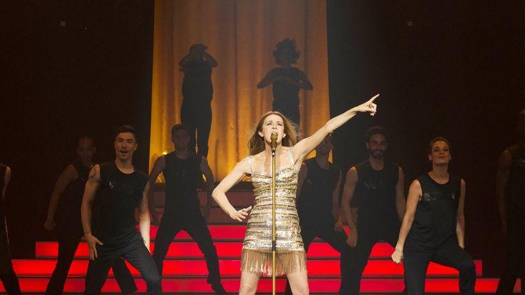 """Valérie Lemercier joue l'avatar de Céline Dion, Aline Dieu, dans """"Aline"""" que l'actrice a réalisé. (Copyright RECTANGLE PRODUCTIONS/GAUMONT/TF1 FILMS PRODUCTION, DE L'HUILE/ PRODUCTIONS CARAMEL FILM INC./PCF ALINE LE FILM INC./BELGA PRODUCTIONS)"""