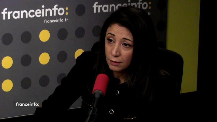 La première conseillère à la mission de Palestine en France,Hala Abou Hassira, le 8 décembre 2017. (FRANCEINFO)