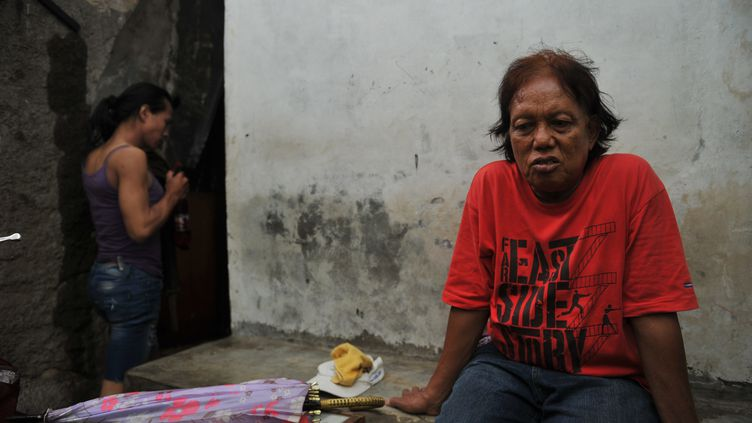 Turdi, la nounou transsexuelle de Barack Obama, le 9 mars 2012, à Jakarta (Indonésie). (ADEK BERRY / AFP)