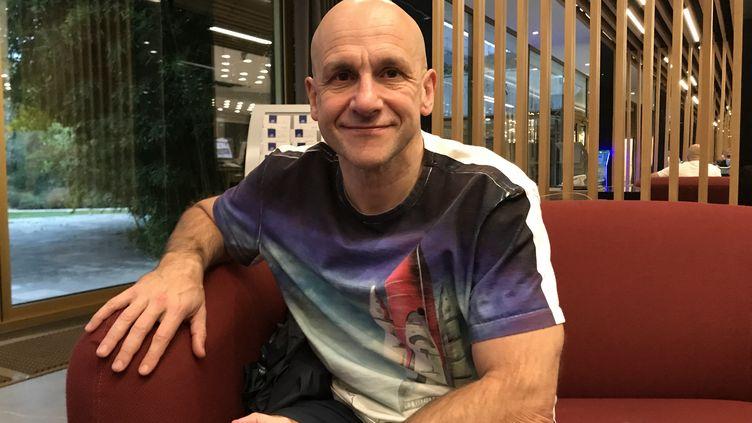Konstantin Grigorishin a créé la compétition de natation ISL (14 novembre 2020). (JÉRÔME VAL / FRANCE-INFO)