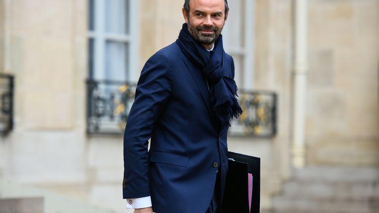 Le Premier ministre Edouard Philippe à la sortie du conseil des ministres, le mercredi 13 décembre, à l'Elysée. (BERTRAND GUAY / AFP)
