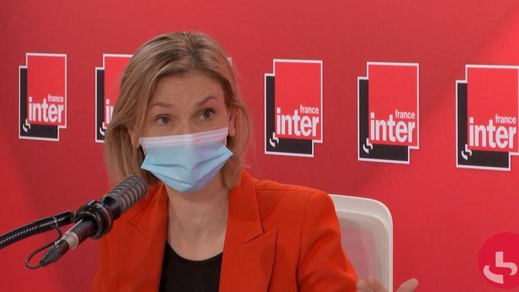 Agnès Pannier-Runacher,ministre déléguée à l'Industrie, le 23 janvier 2021 sur France Inter. (FRANCEINTER / RADIOFRANCE)