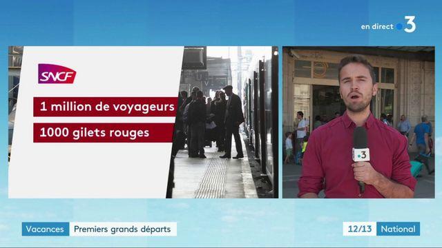 SNCF : des premiers départs en vacances difficiles