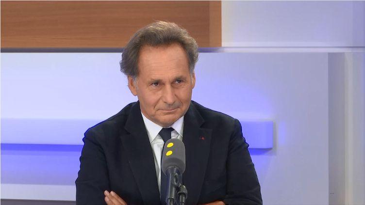 Pierre-Olivier Sur, le 18 octobre 2019, sur le plateau de franceinfo. (FRANCEINFO / RADIOFRANCE)