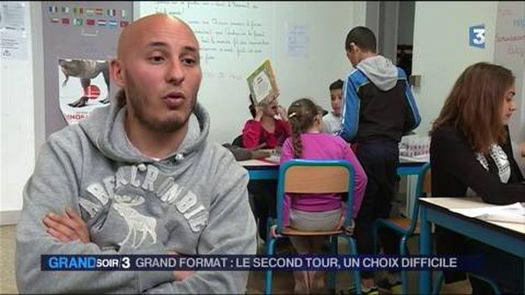 Nasreddinne votera pour Emmanuel Macron pour faire barrage au FN. (FRANCE 3)