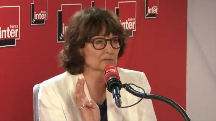 La philosopheSylviane Agacinski, invité de franceinfo lundi 24 juin. (FRANCE INTER / RADIO FRANCE)